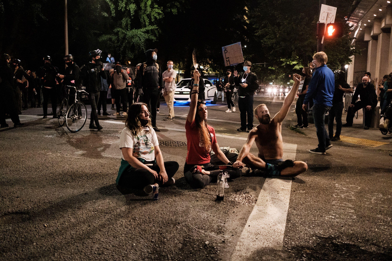 Manifestation contre les violences policières à Portland,