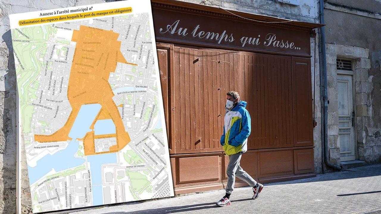 Dans le centre de La Rochelle, le port du masque est obligatoire à l'extérieur depuis ce mardi 22