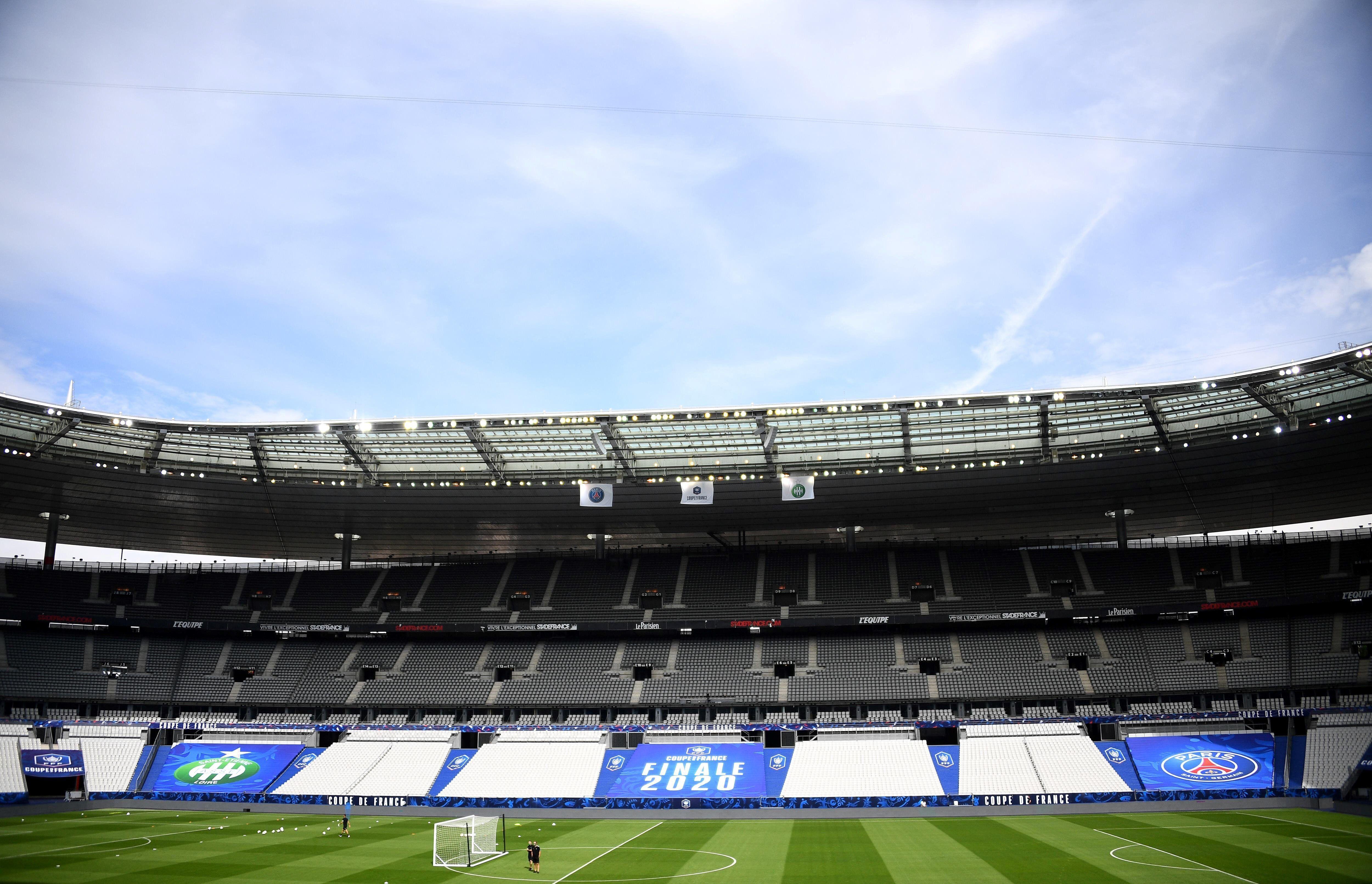 Le Stade de France, aménagé pour la finale de la Coupe de France (photo prise le 23 juillet