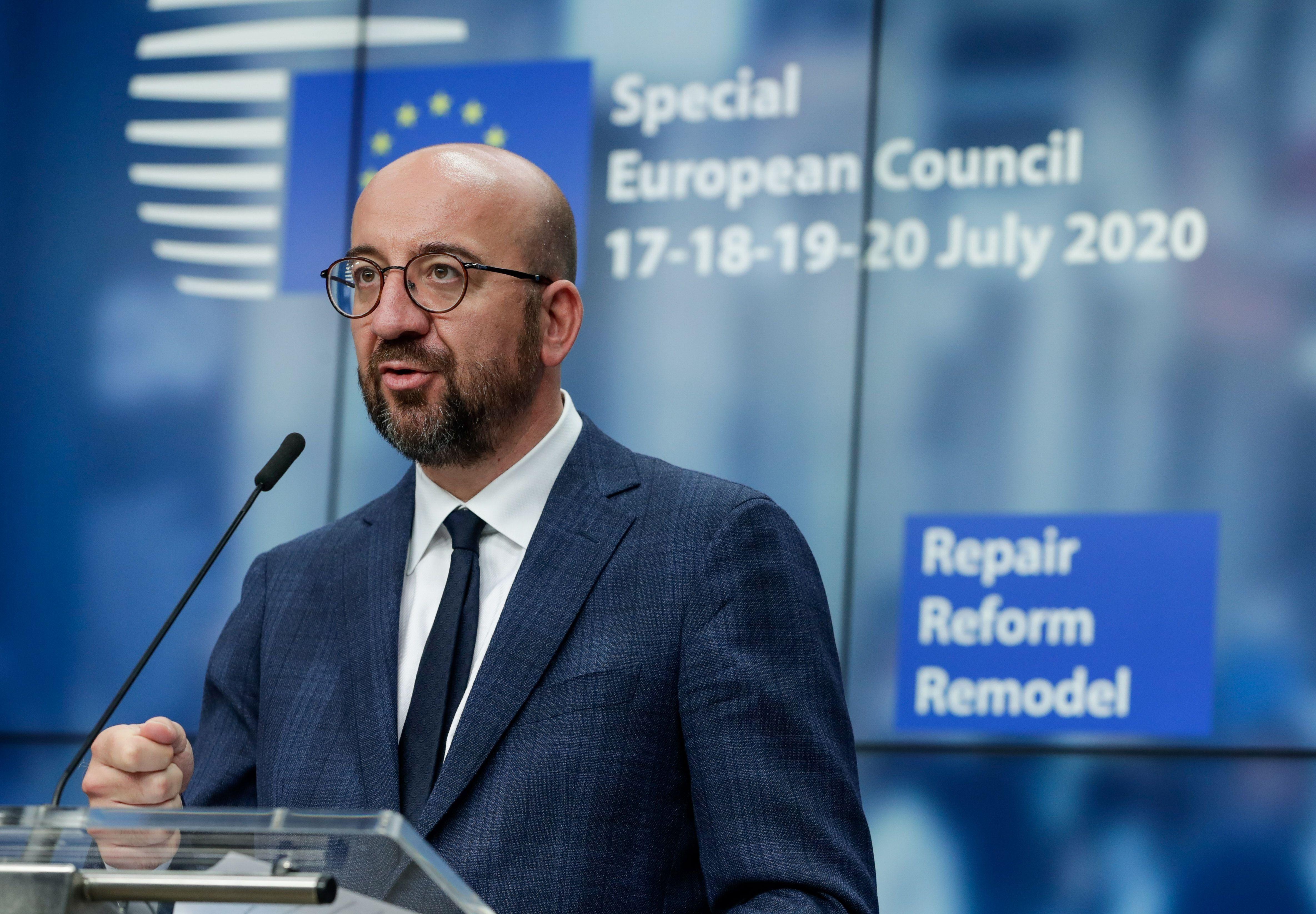 Le président du Conseil européen Charles Michel a annoncé que l'octroi des financements...