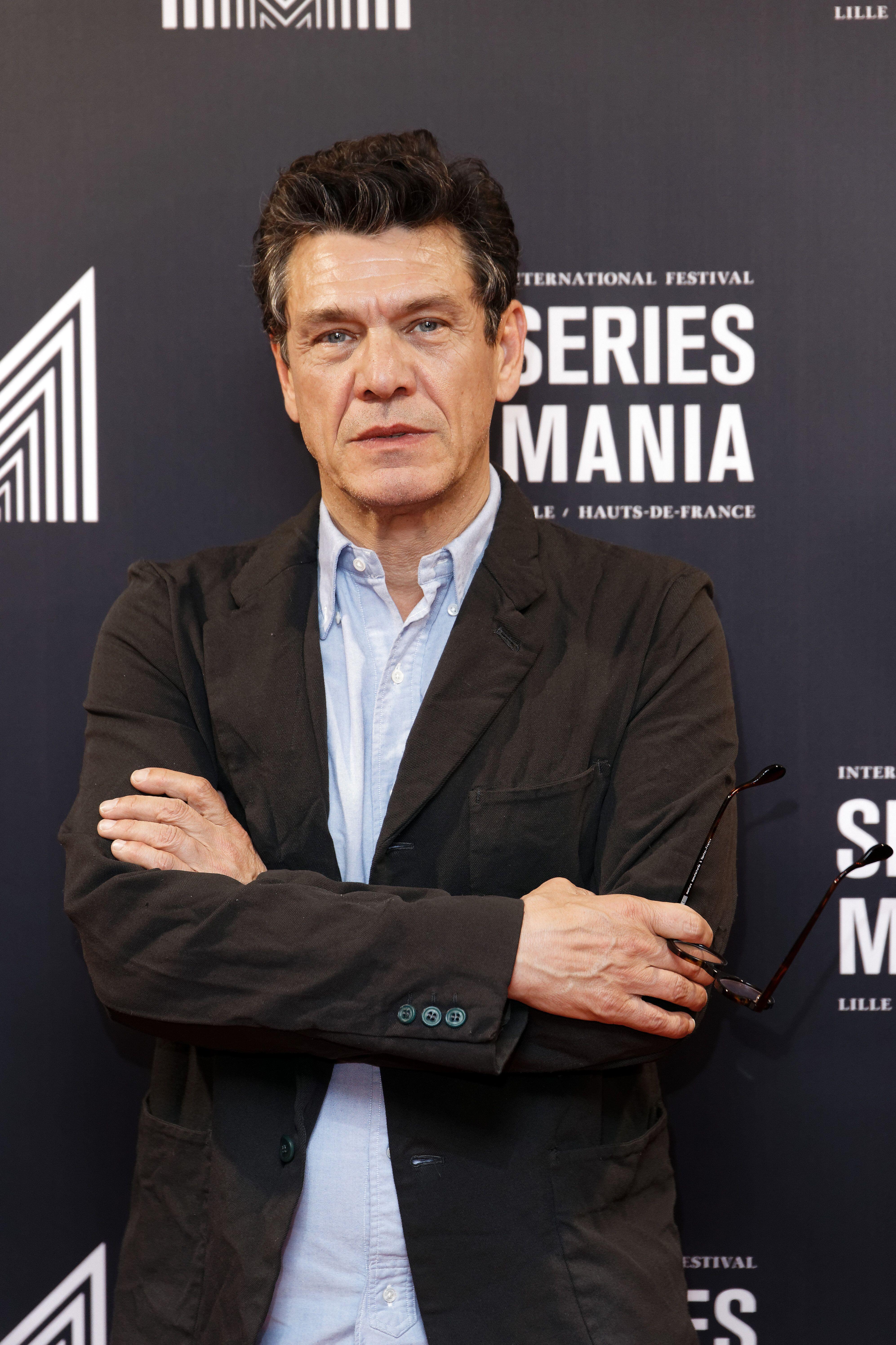 LILLE, FRANCE - APRIL 30: Actor Marc Lavoine attends Series Mania Lille Hauts de France festival day...