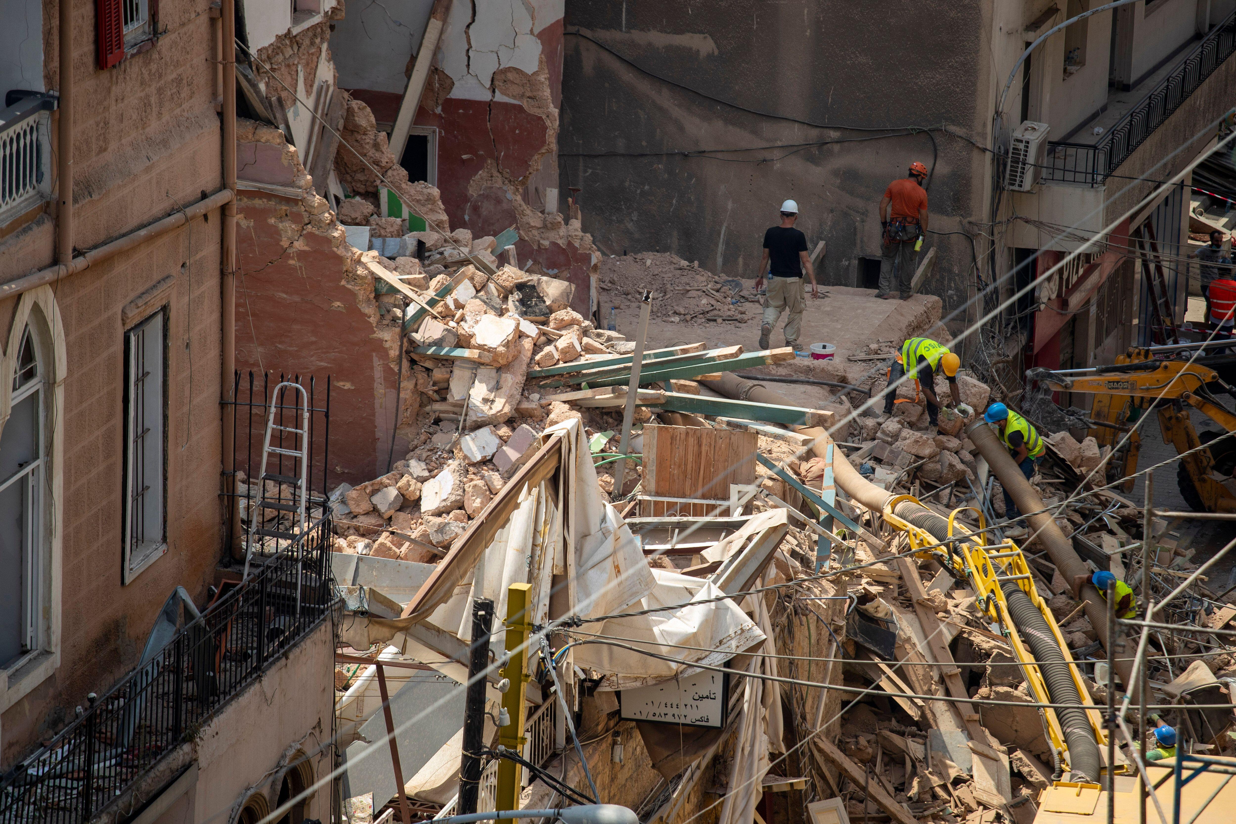 À Beyrouth, il n'y a plus d'espoir de retrouver un survivant de l'explosion, un mois après...