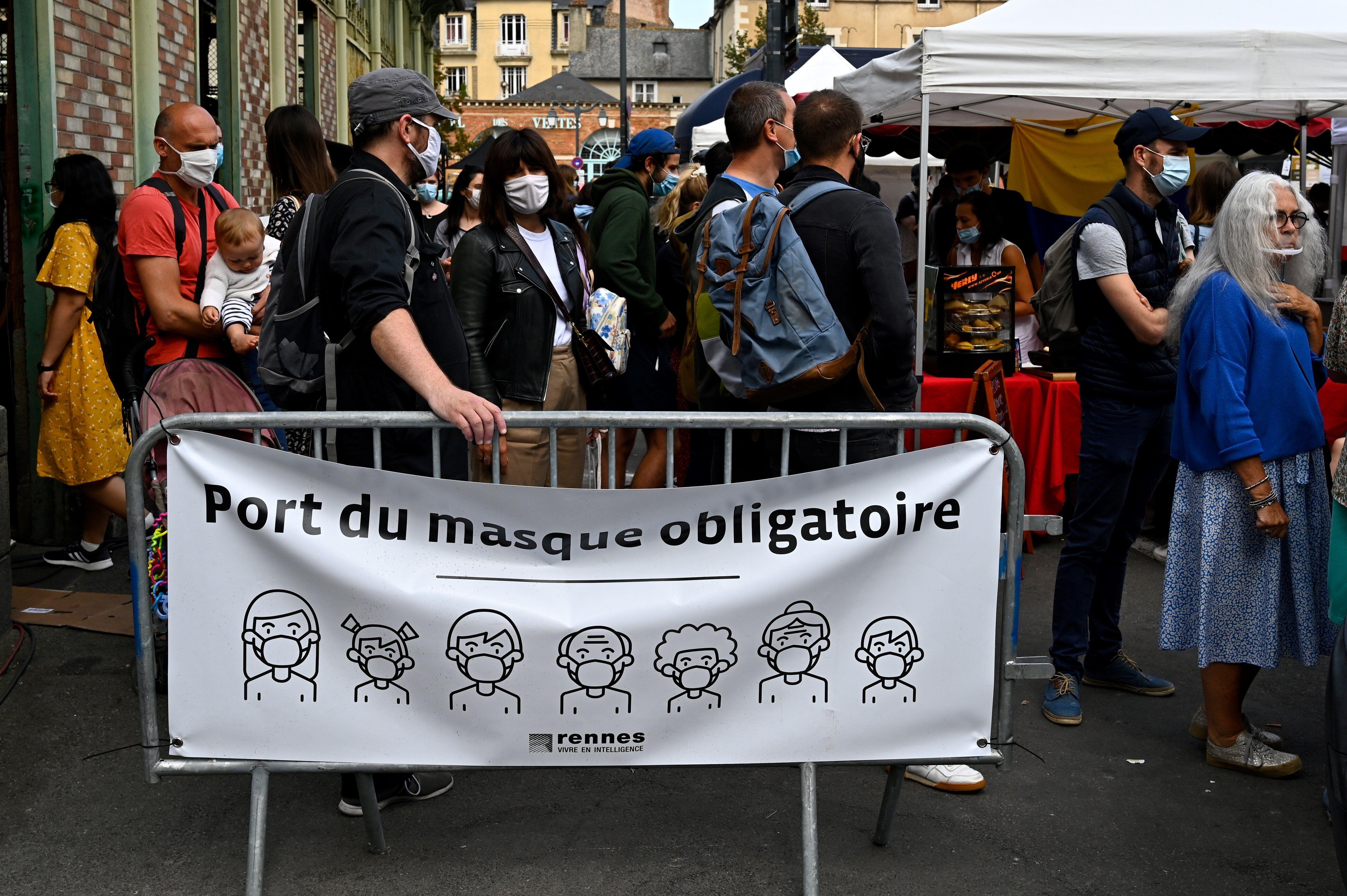 Sur un marché de Rennes, le 12 septembre