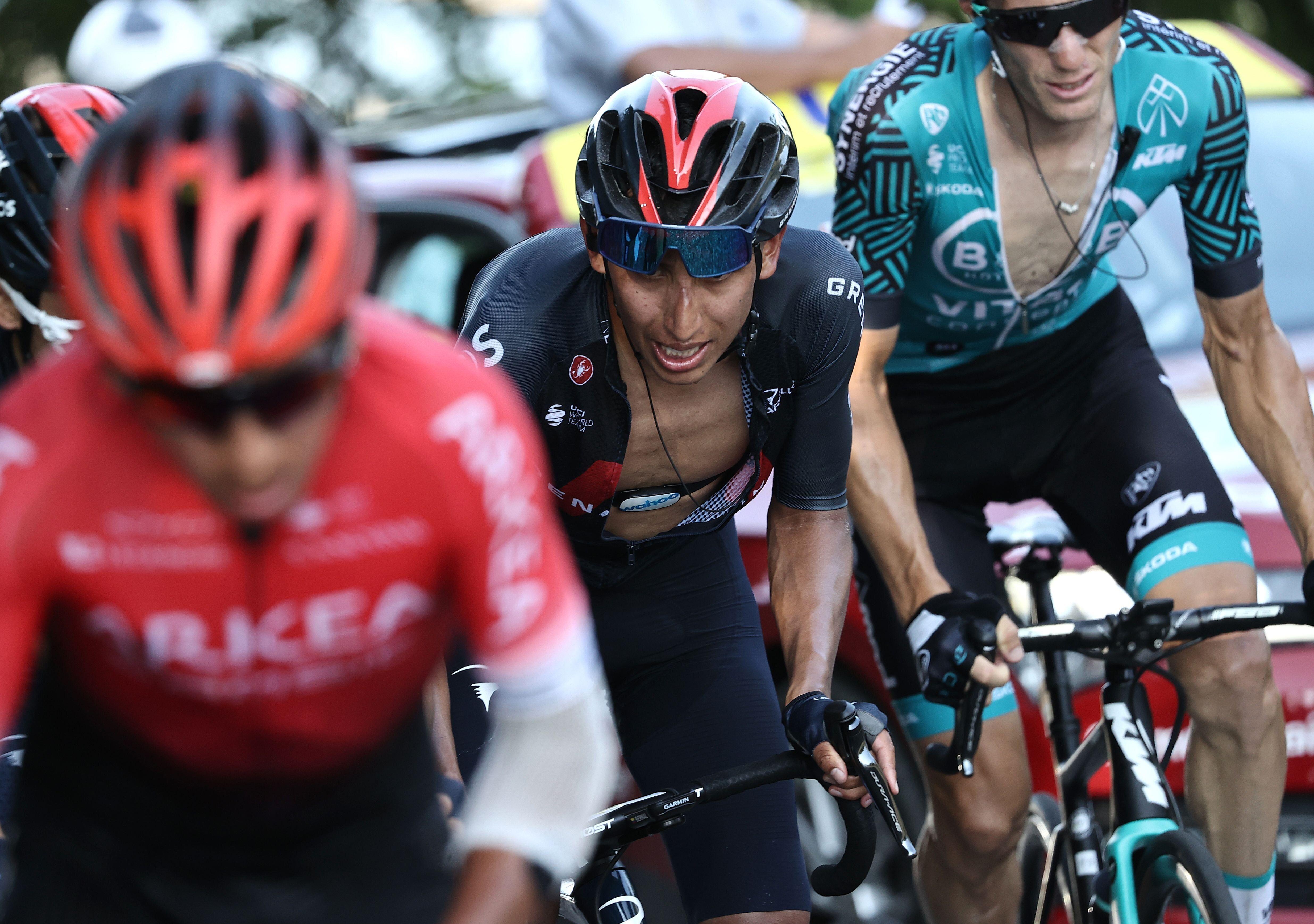 Egan Bernal lors de la 15e étape du Tour de France 2020, le 13