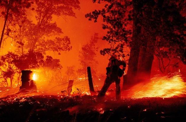 Les 8000km2 incendiés en Californie battent un triste record remontant à 1987 (Photo prise...