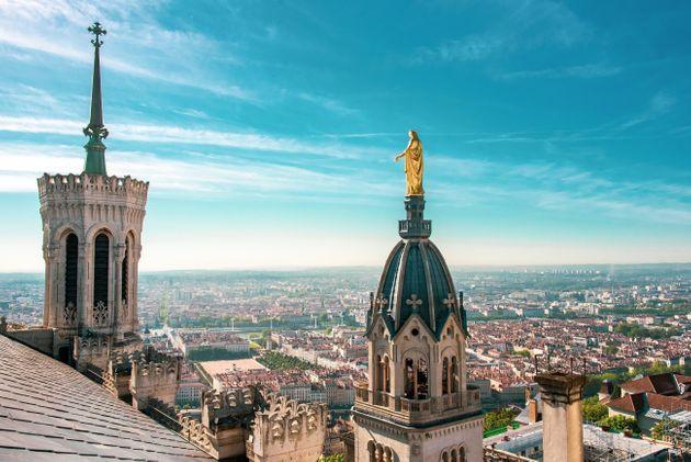 La vue sur Lyon depuis le toit de la basilique Notre-Dame de