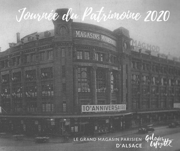 La terrasse des Galeries Lafayette de Strasbourg abrite des