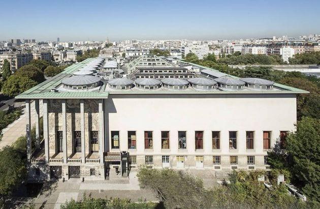 Vue du Palais de la Porte Dorée, dont le toit sera accessible pendant les Journées du patrimoine - Photo...