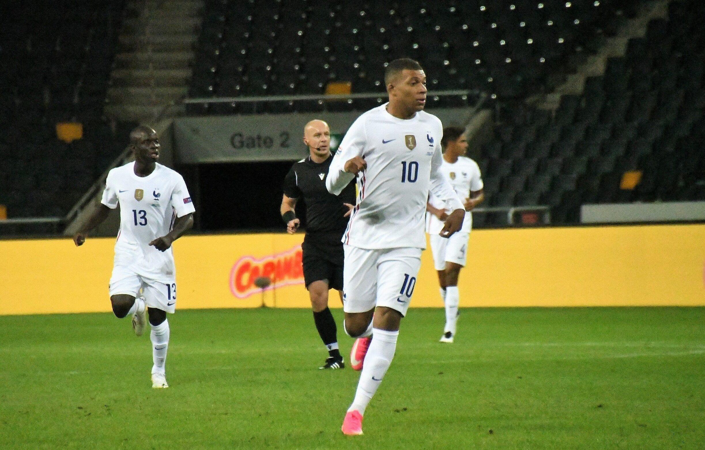 Kylian Mbappé lors de la rencontre contre la Suède ce 5 septembre
