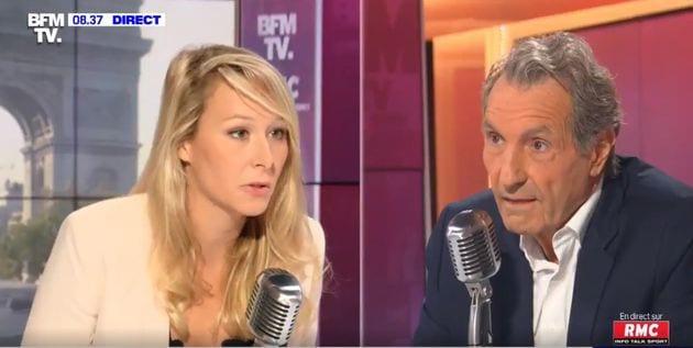 Marion Maréchal sur le plateau de BFMTV ce mardi 15