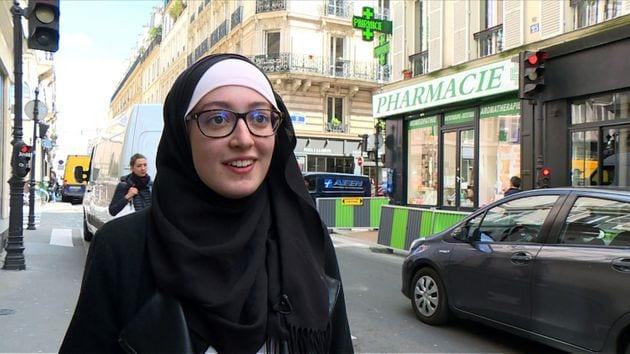Maryam Pougetoux photograpiée à Paris le 3 mai