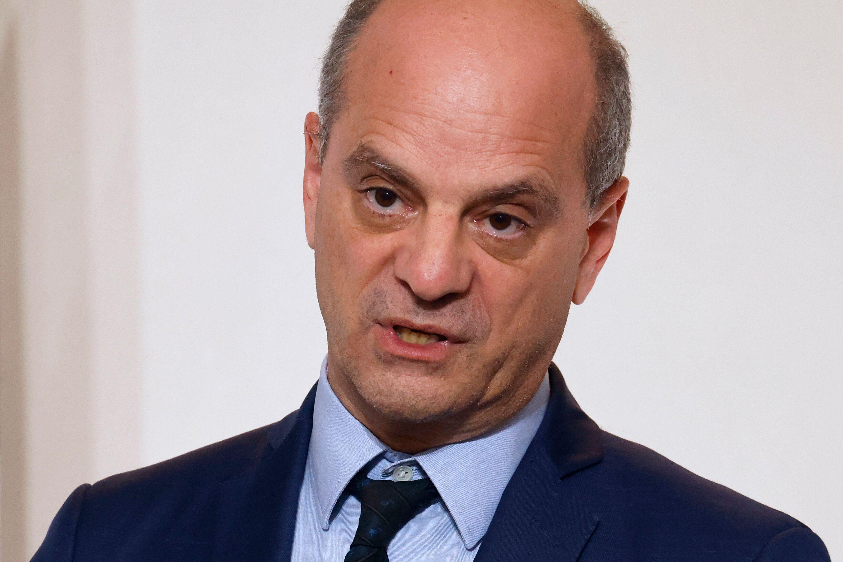 Jean-Michel Blanquer, ici s'exprimant lors d'une conférence de presse au ministère...