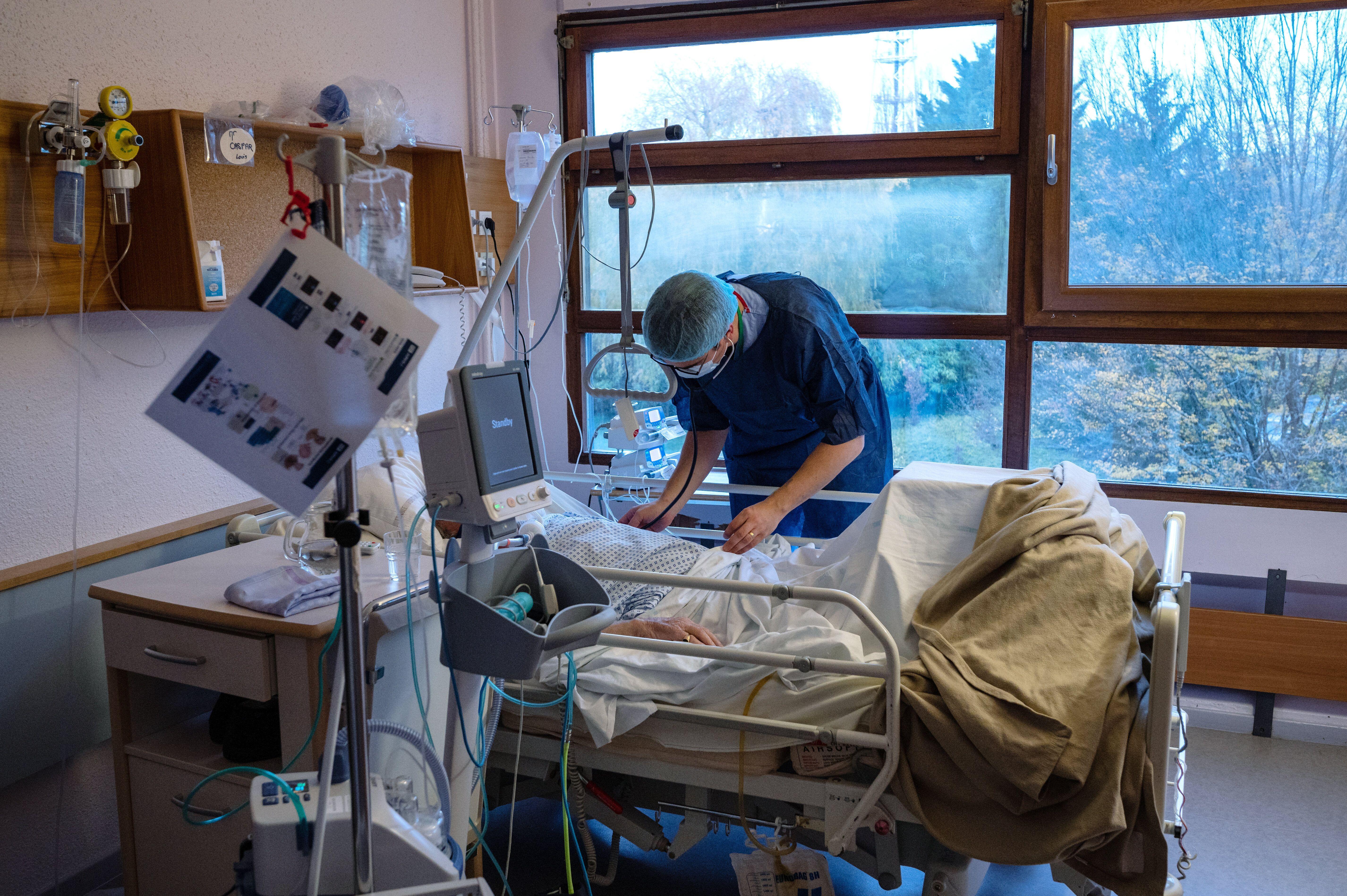 À l'hôpital Emile-Muller de Mulhouse, le 17 novembre