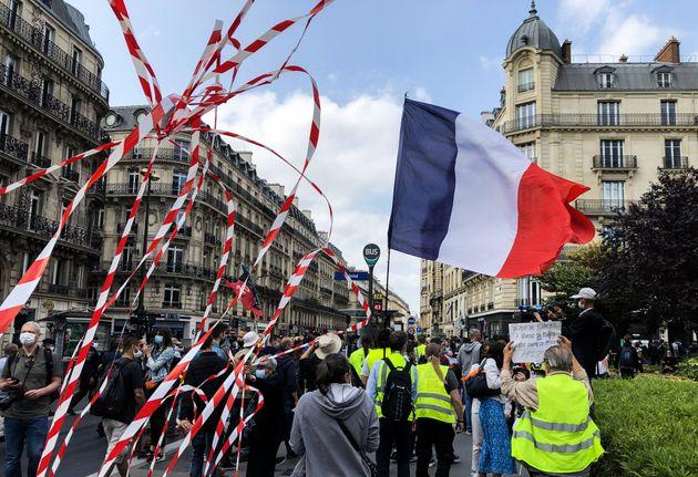 La manifestation des gilets jaunes à Paris le 12