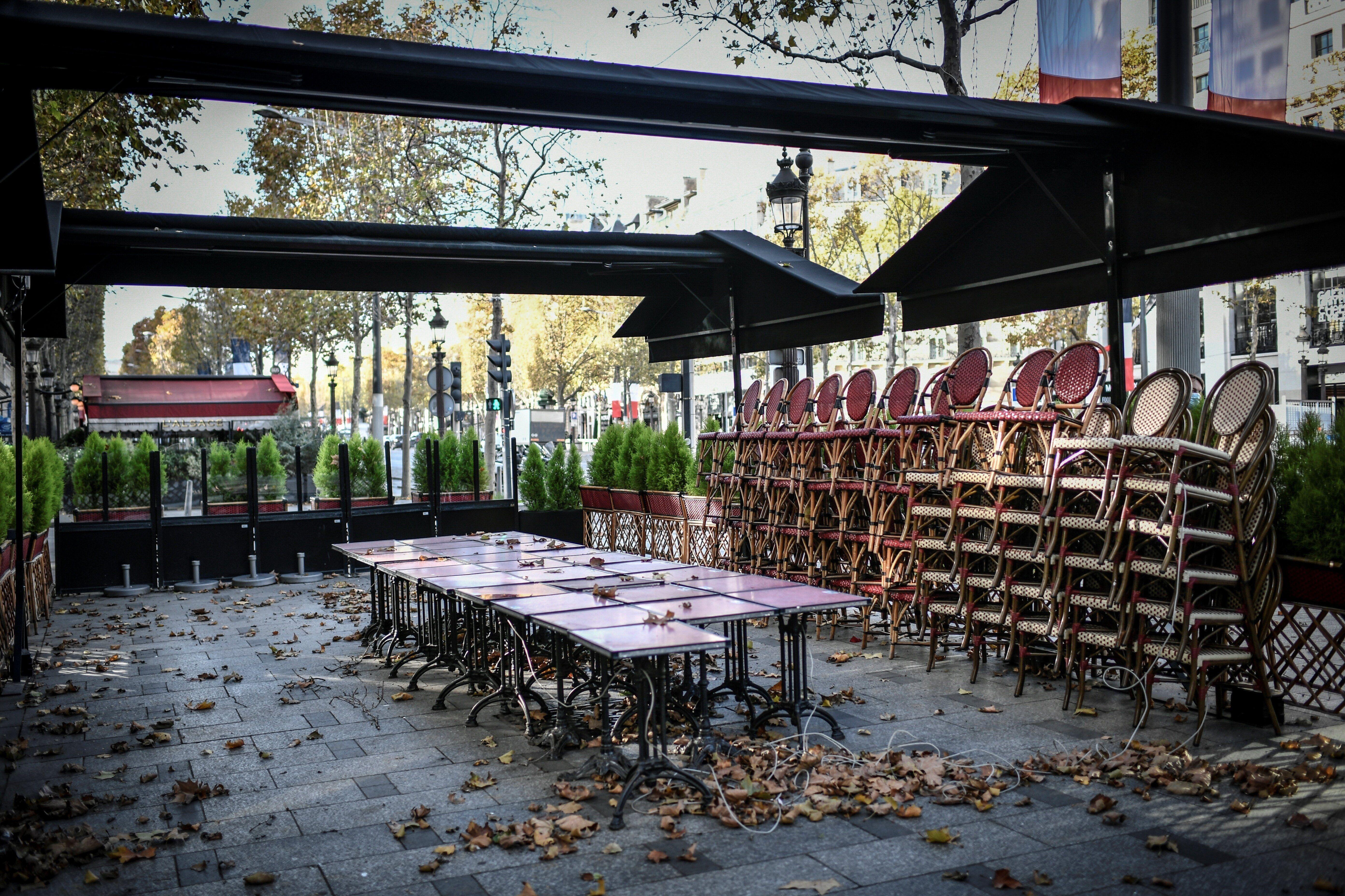 Pour les bars et restaurants, pas de réouverture avant le 15 janvier 2021 (photo du 12 novembre...