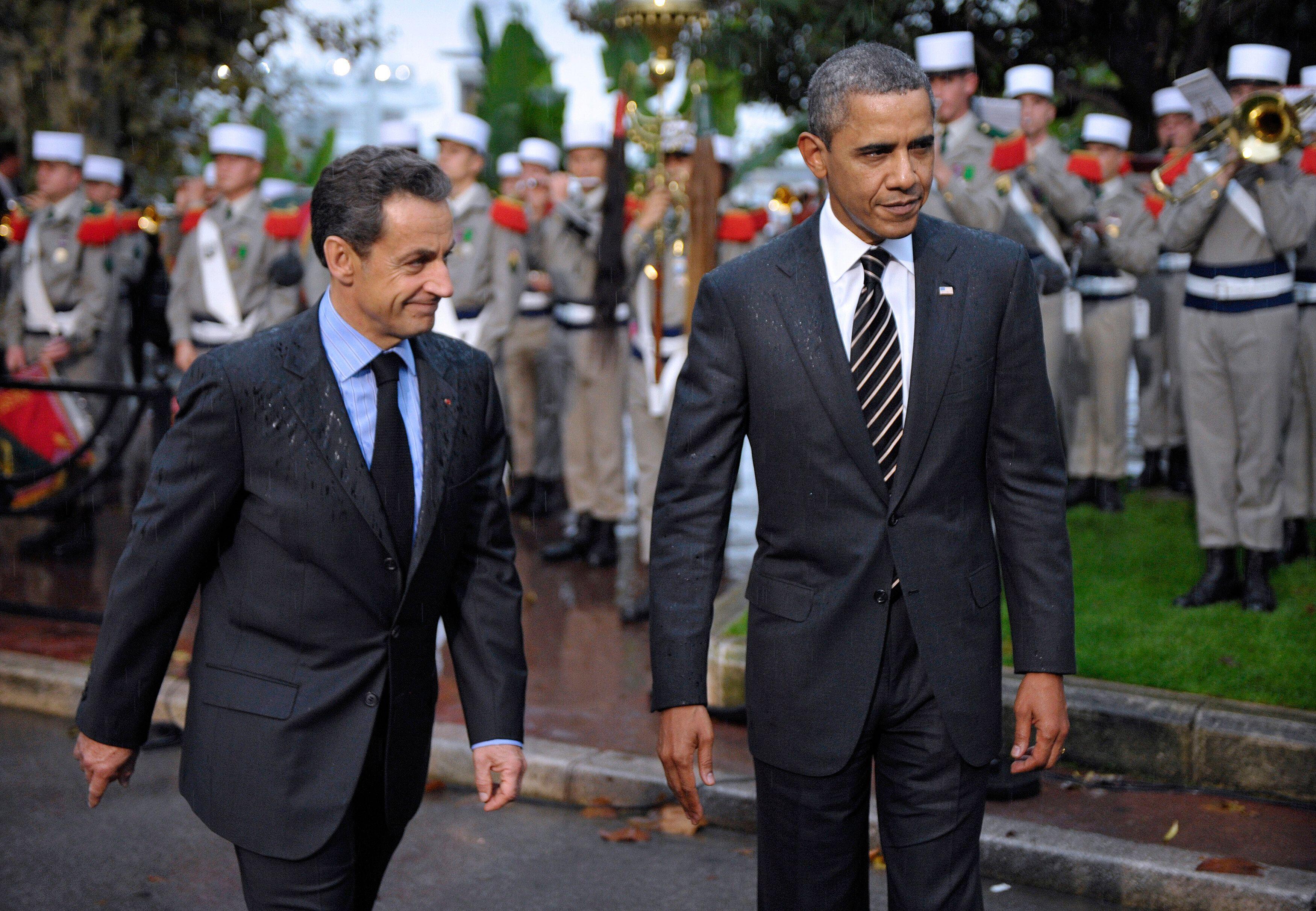 Nicolas Sarkozy et Barack Obama, ici à Cannes le 4 novembre