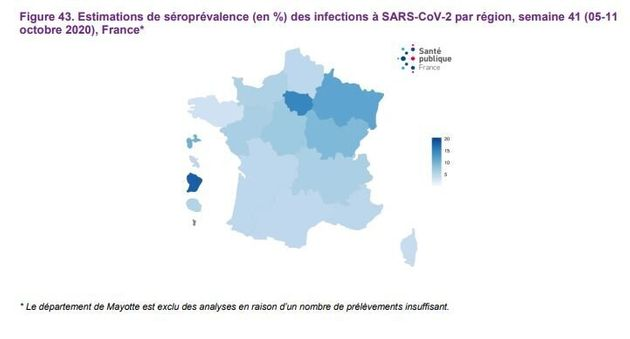Estimations de séroprévalence des infections à SARS-CoV-2 par région, semaine