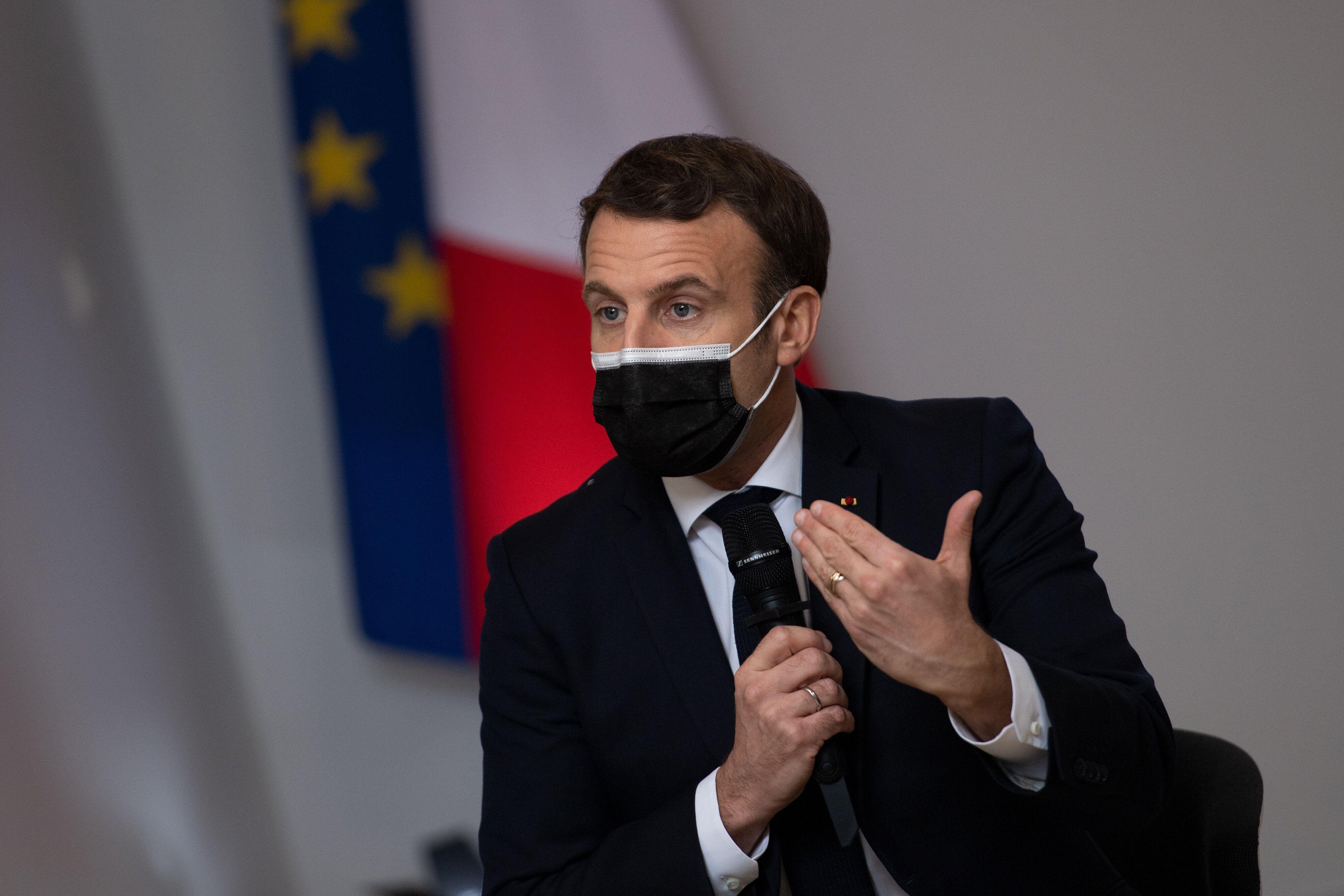 Emmanuel Macron, ici à Tours, le 5 janvier