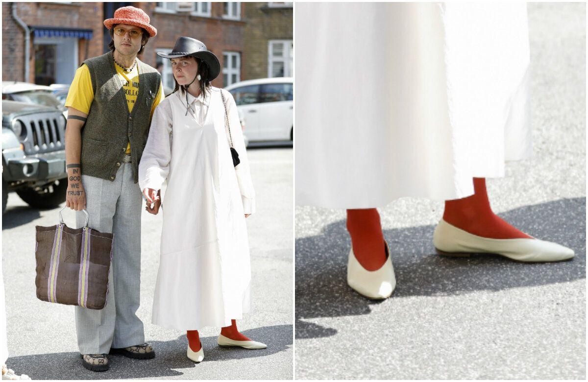 L'influenceuse Sissi Pohle, aux abords de la Fashion Week de
