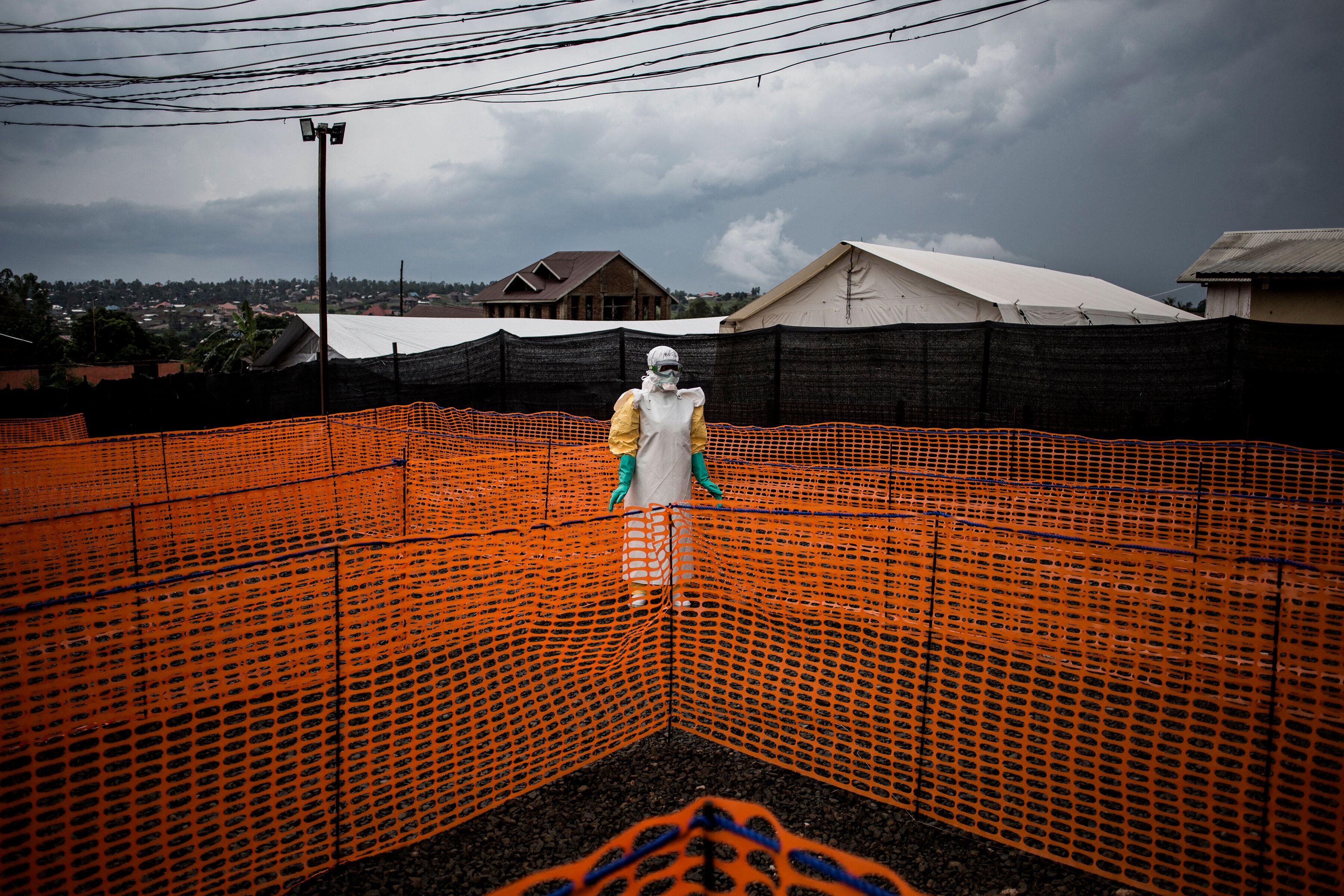 Dans un centre de traitement Ebola, enRépublique démocratique du Congo, en novembre
