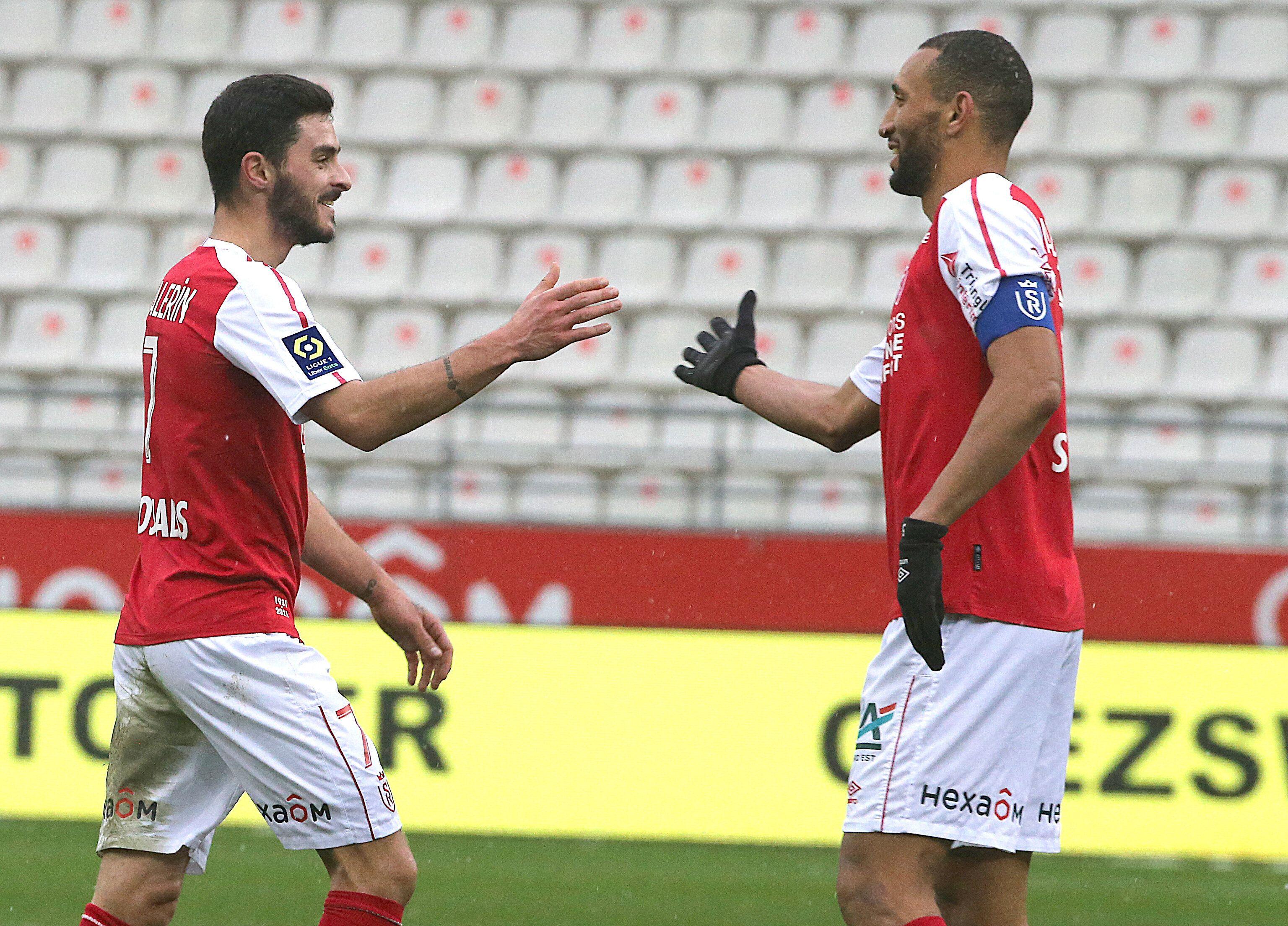 Face au Covid-19, les footballeurs de Reims baissent leur salaire (photo du 24 janvier 2021, Xavier Chavalerin...