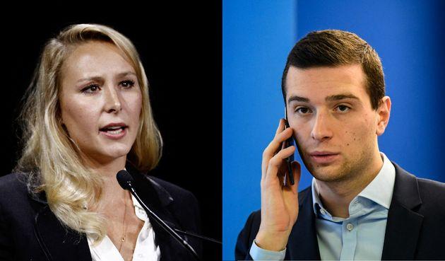 Le député européen RN Jordan Bardella et la directrice de l'ISSEP Marion