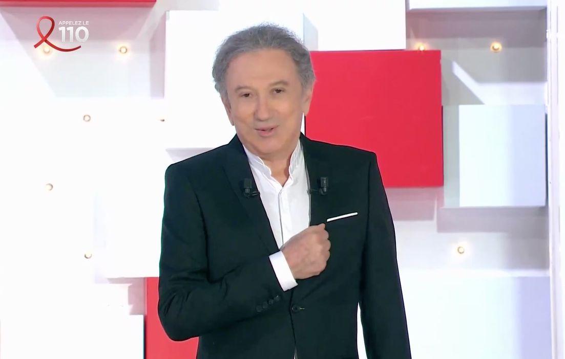 Michel Drucker, dimanche 28 mars sur le plateau de son émission après plusieurs mois