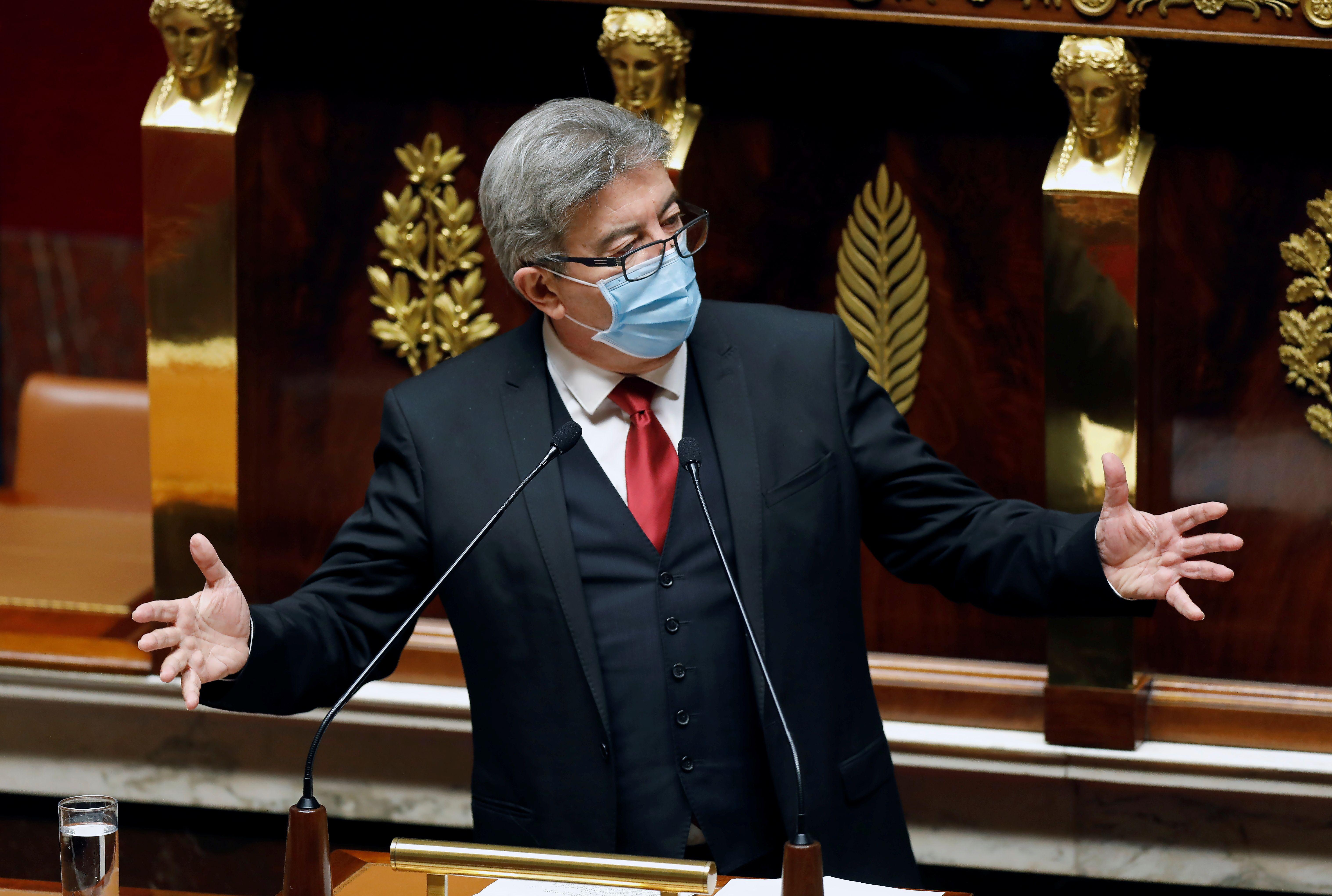 Jean-Luc Melenchon, à l'Assemblée nationale en octobre
