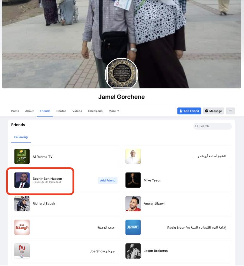 Les amis de Jamel Gorchene sur Facebook