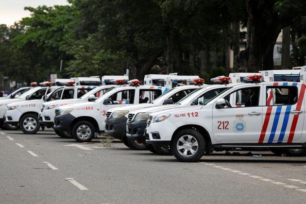 (photo d'illustration de la police nigériane mobilisée lors d'une manifestation à Lagos en Octobre