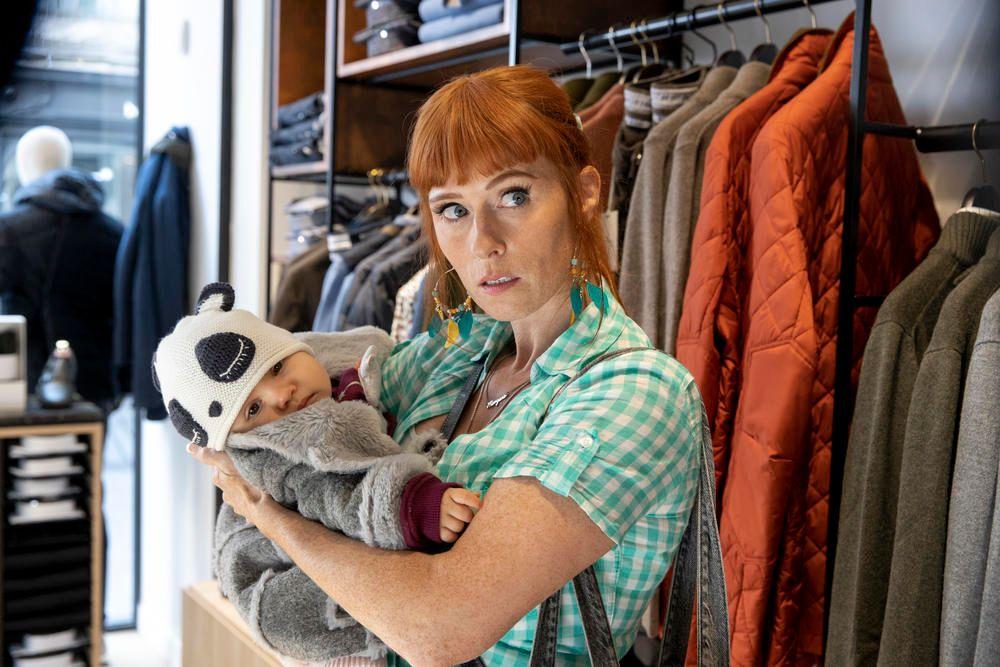 L'actrice française Audrey Fleurot dans la série télévisée