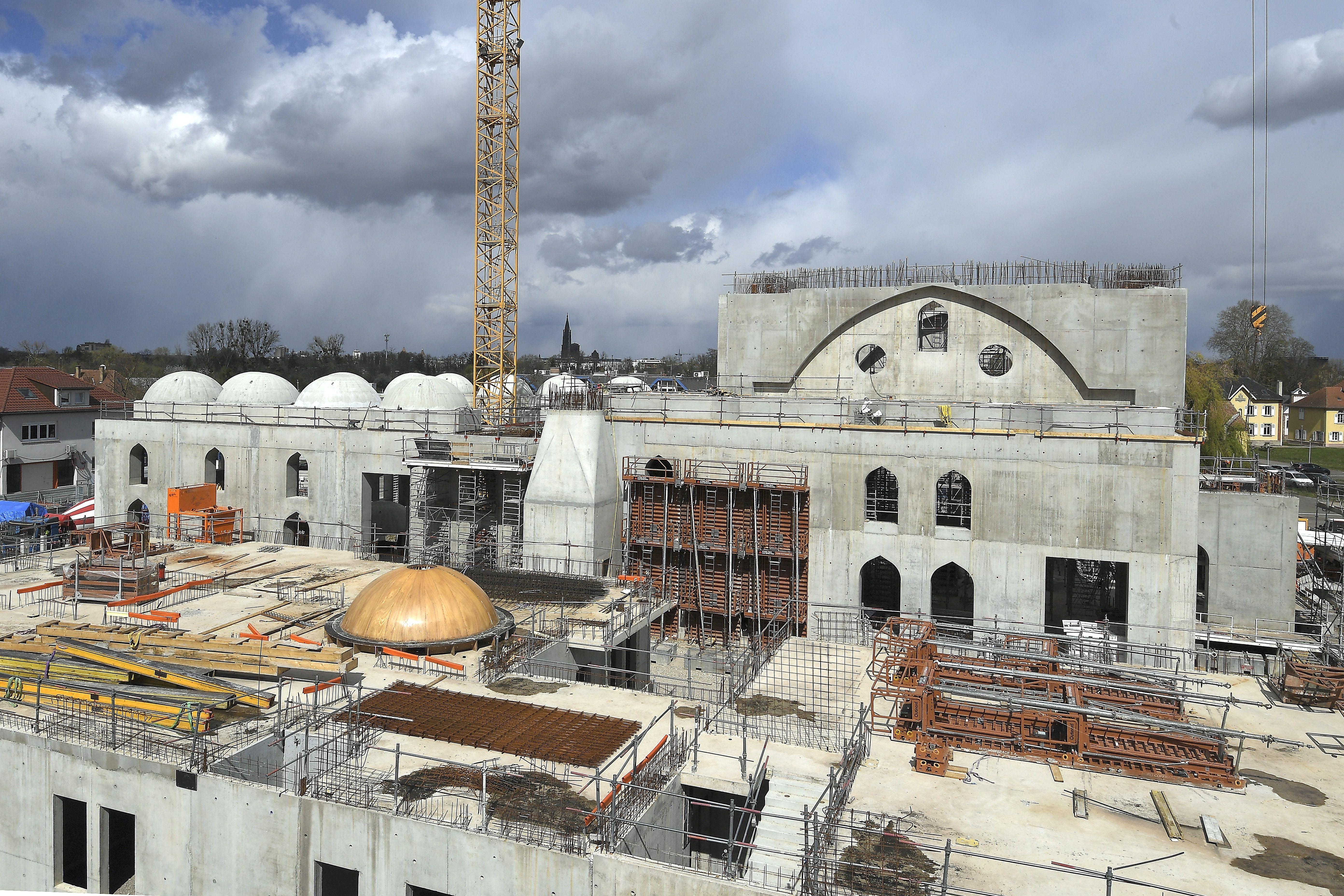 Le projet de construction de la mosquée de Strasbourg le 6 avril