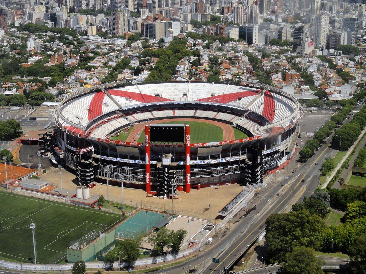 Le stade de l'équipe de River Plate, à Buenos Aires en Argentine, qui avait été...
