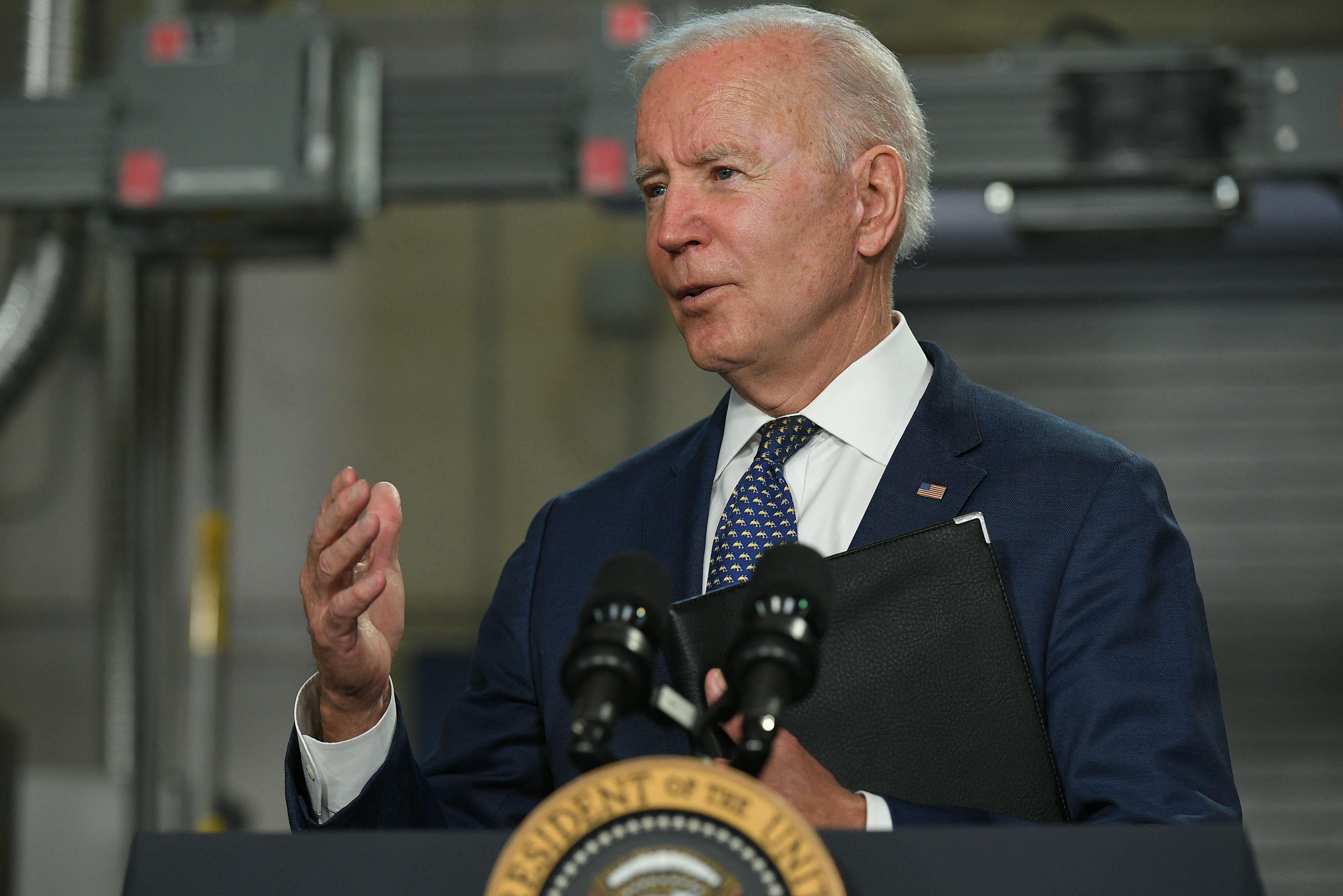 Joe Biden, ici à Norfolk en Virginie, le 3 mai