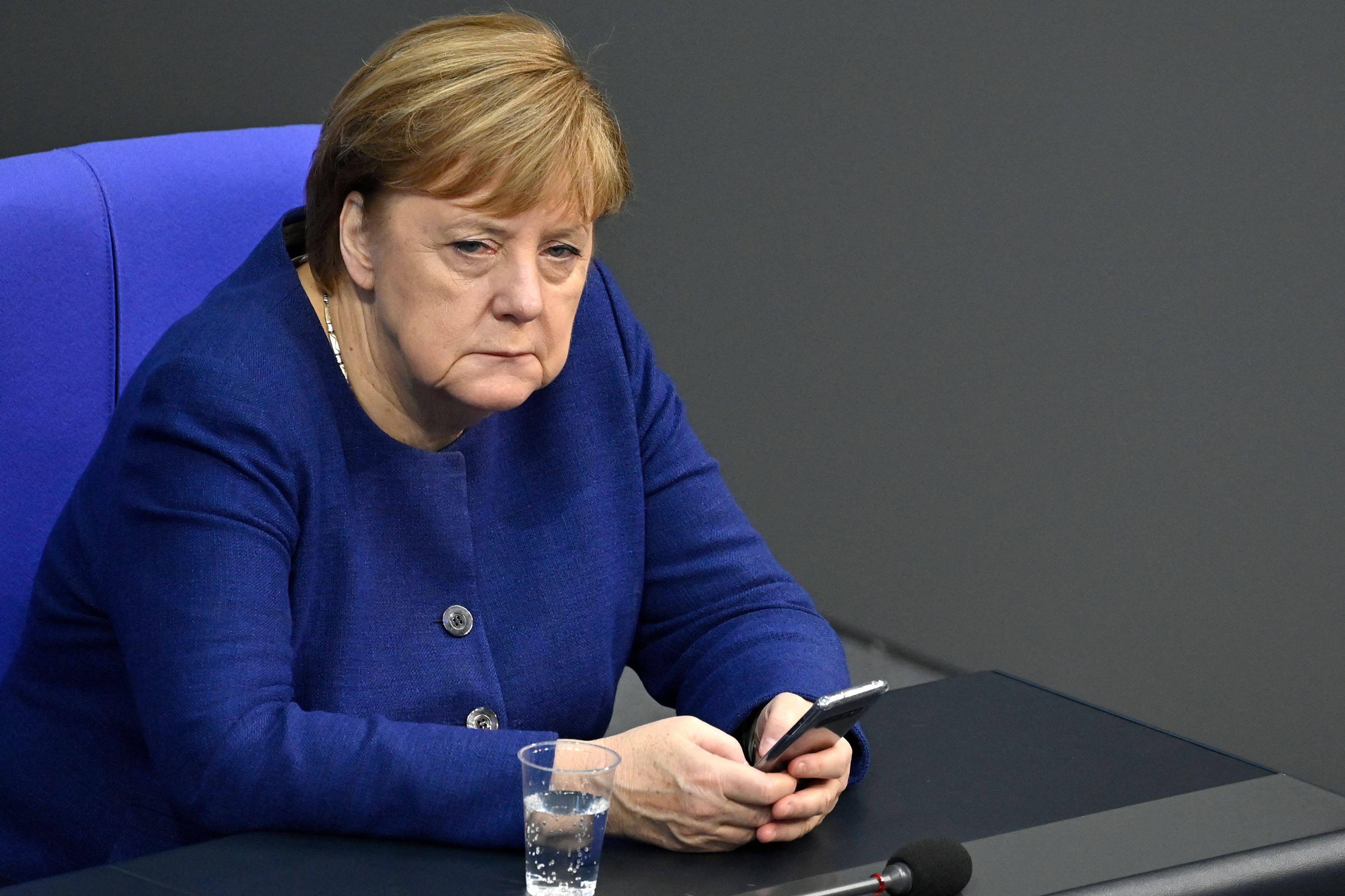 Angela Merkel, ici au Bundestag à Berlin, le 8 décembre