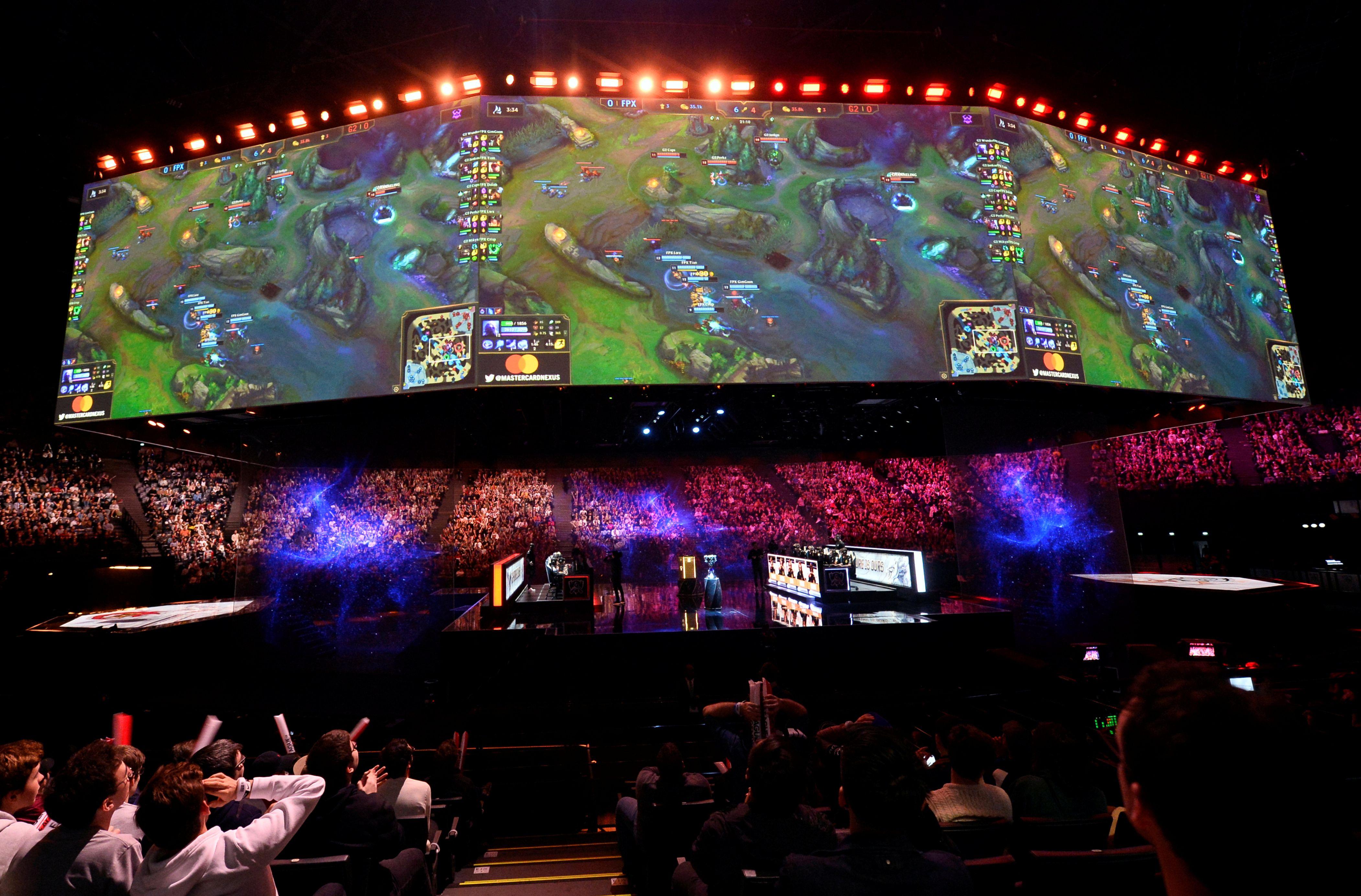 La finale du championnat du monde de League of Legends World, à Paris, le 10 novembre