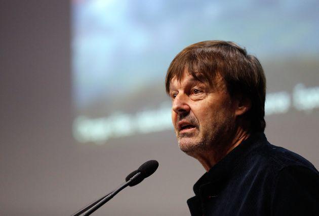 Nicolas Hulot durant une conférence sur le changement climatique et la finance, le 13 décembre...