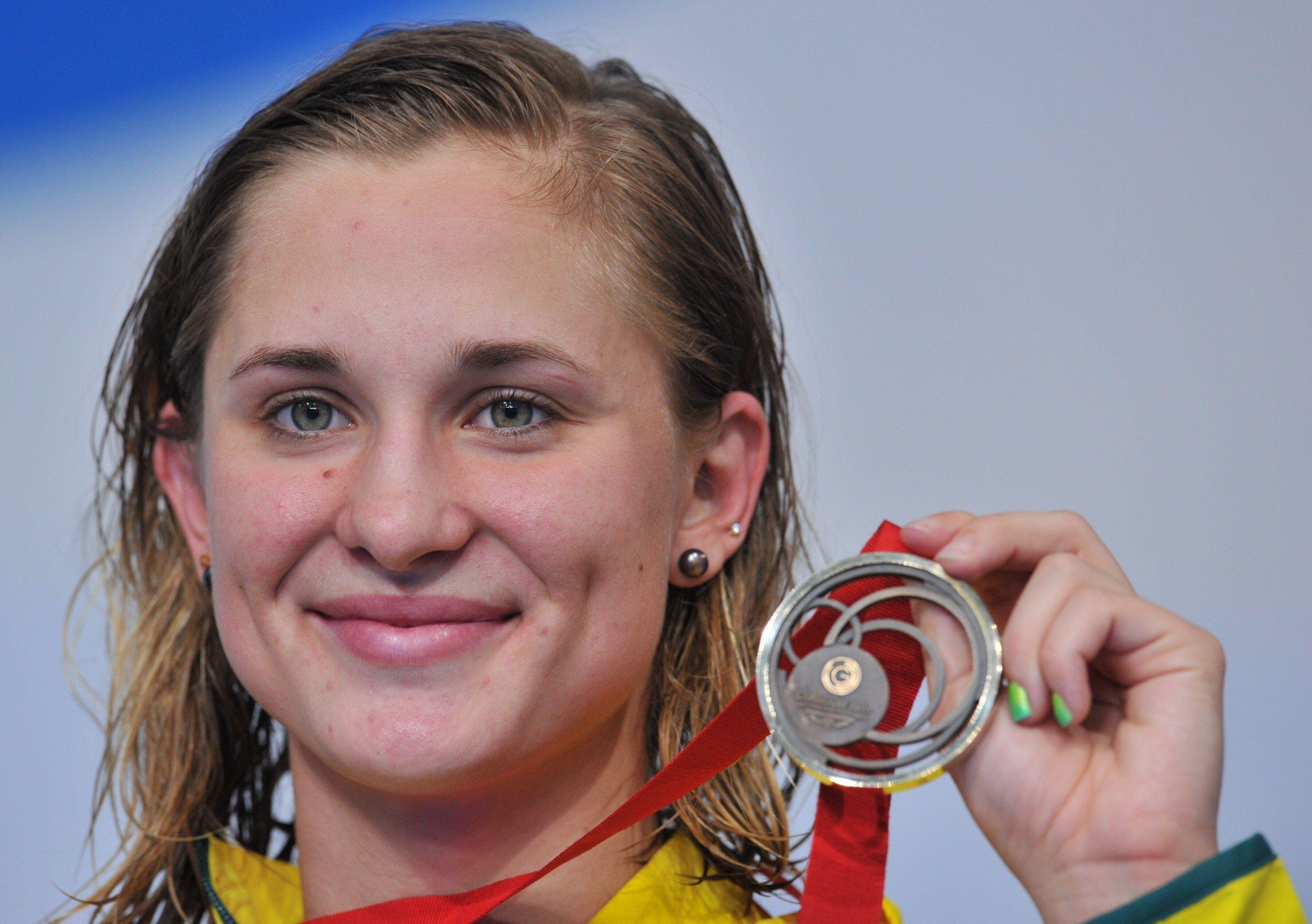 La nageuse Maddie Groves médaillée de bronze lors des jeux du Commonwealth, à Glasgow...