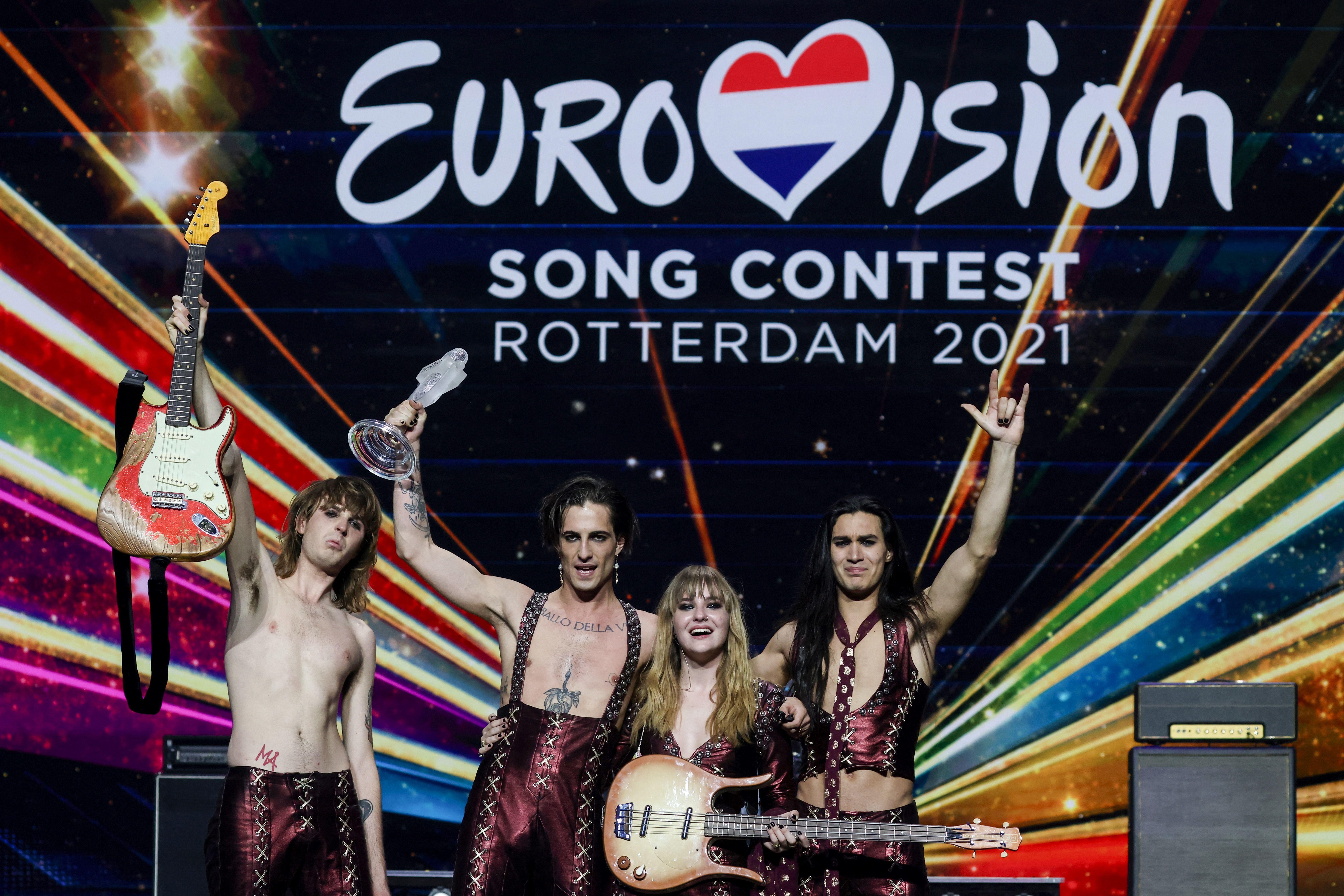 Måneskin, vainqueur de l'Eurovision 2021, soupçonné de