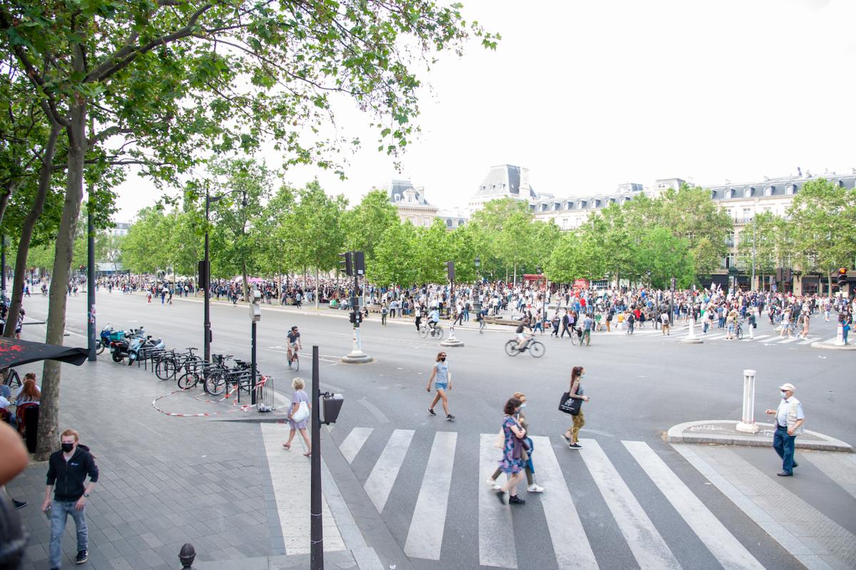 Fin de manifestation place de la République. - © Reflets