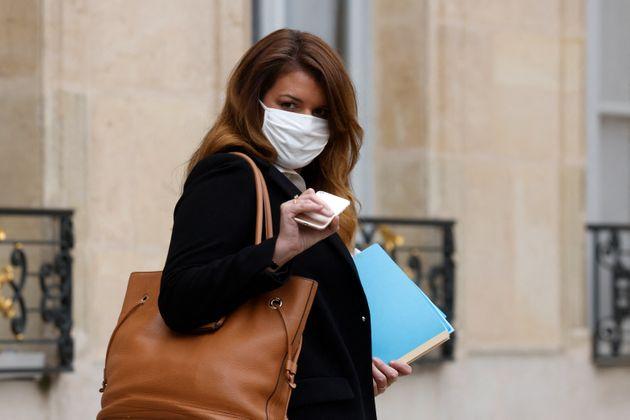 Marlene Schiappa quitte l'Elysée après une réunion le 3 février
