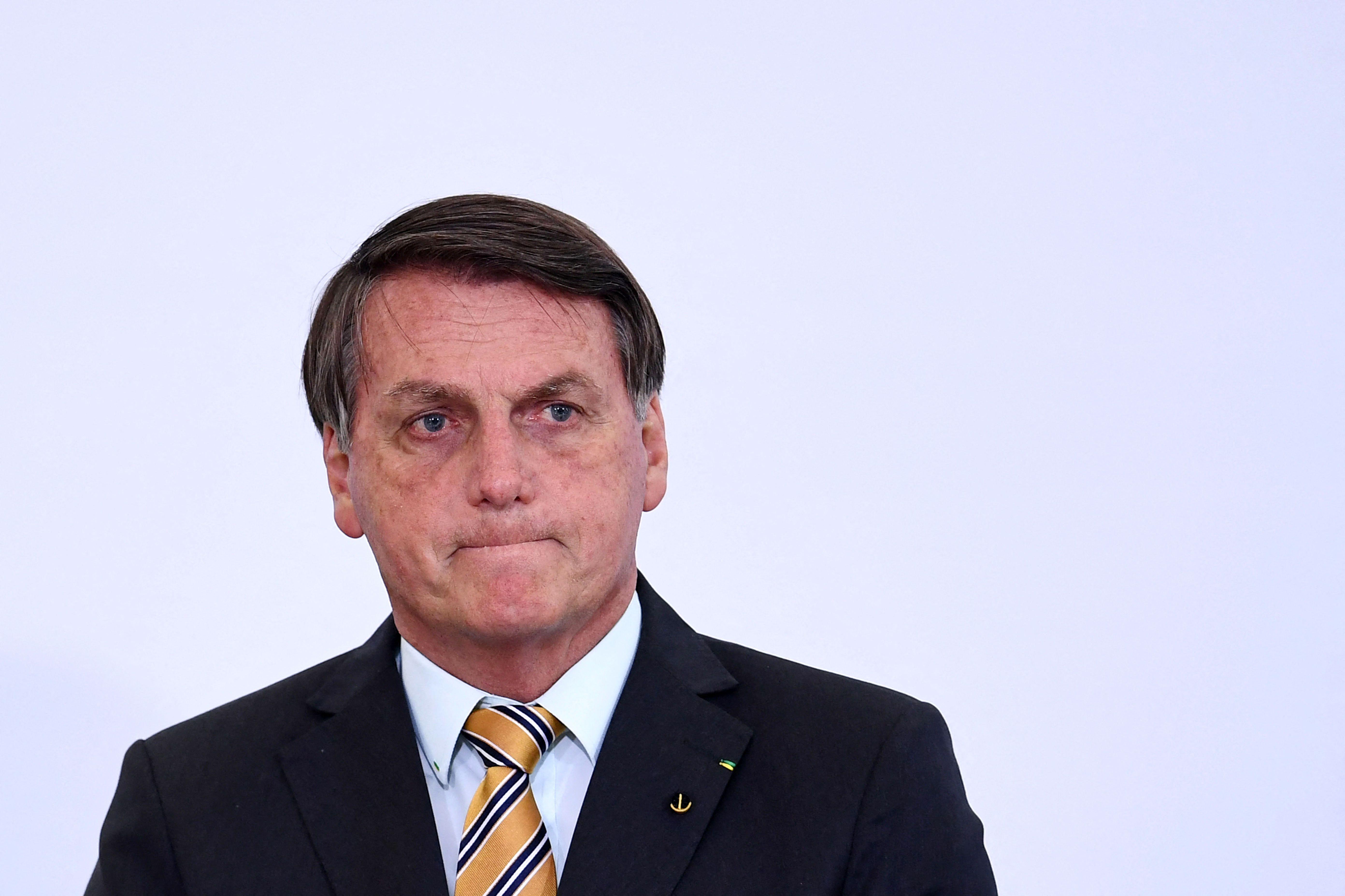 Le président Jair Bolsonaro est visé par une enquête concernant une éventuelle omission de dénonciation...