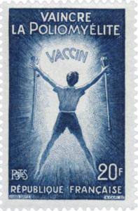 Timbre vantant les mérites de la vaccination contre la polio en 1959 - wikitimbres.fr