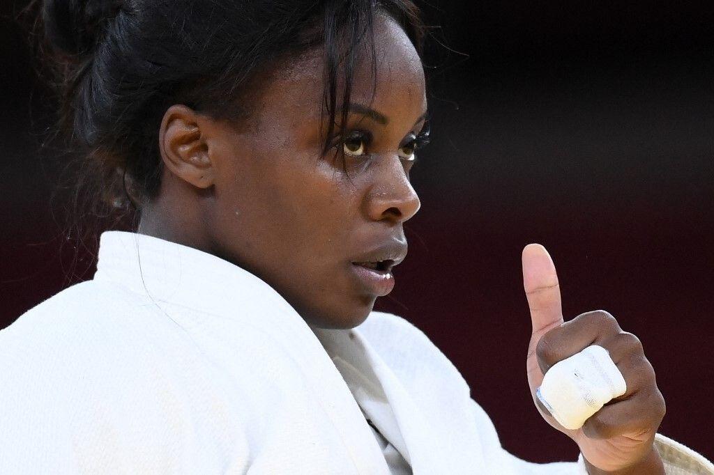 Madeleine Malonga réagit à sa qualification pour la finale des -78 kg aux JO de Tokyo le 29