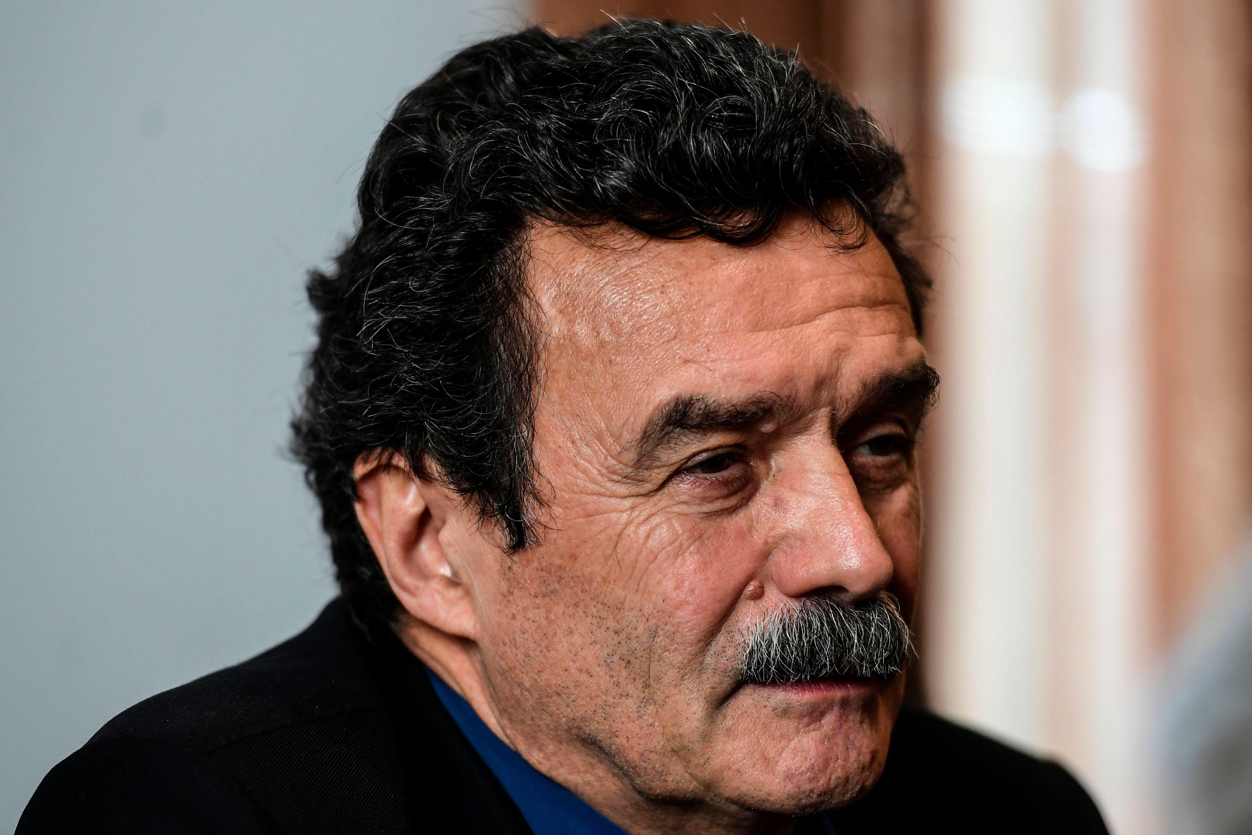 Le journaliste et co-fondateur de Mediapart, Edwy Plener, lors d'un conférence de presse le 14...