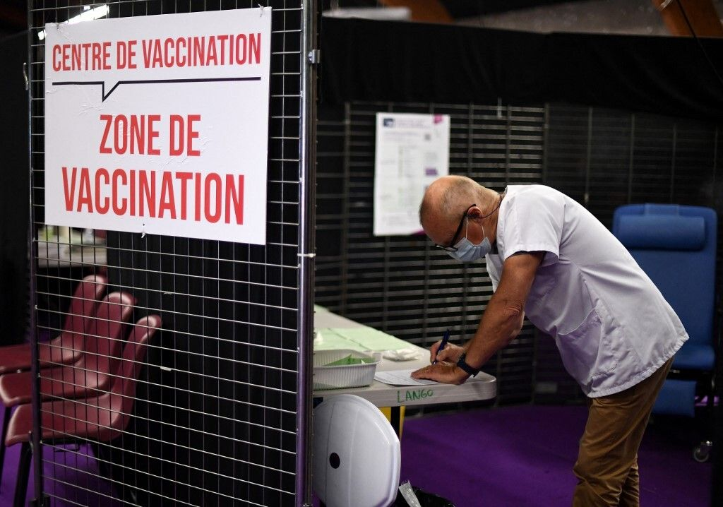 Photo d'illustration prise dans un centre de vaccination à Garlan en mai