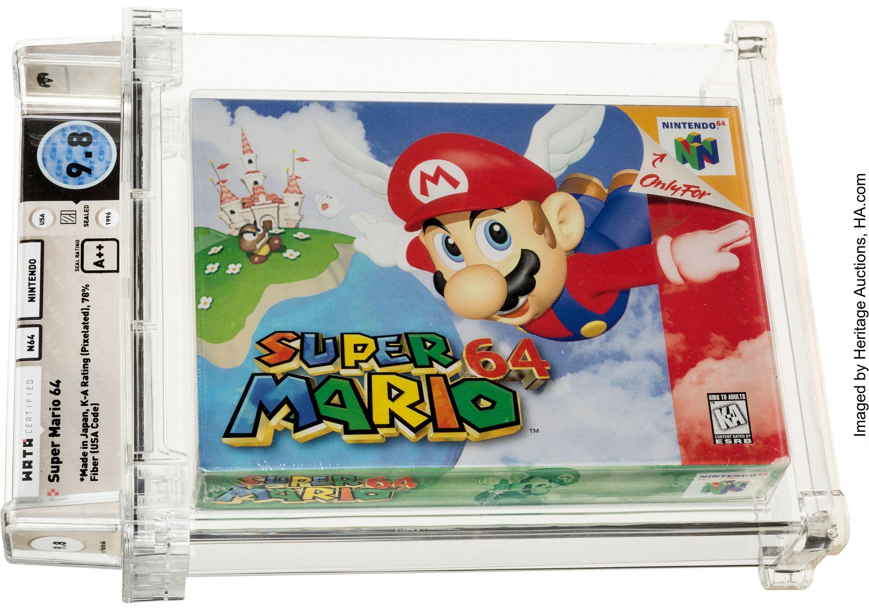 Une cartouche Super Mario 64 bat le record de jeu vidéo aux