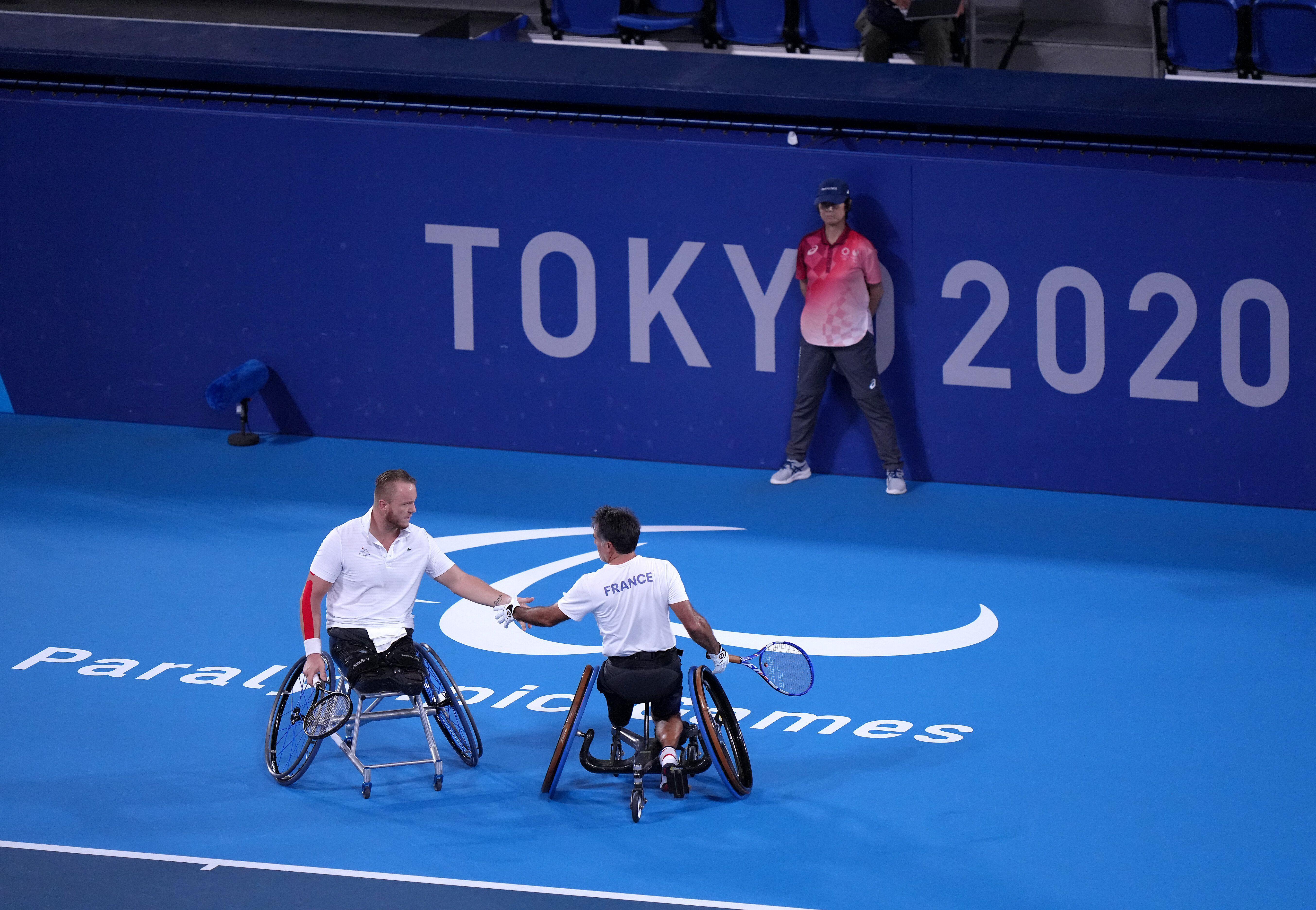 Stephane Houdet et Nicolas Peifer le 3 septembre 2021 aux Jeux paralympiques de