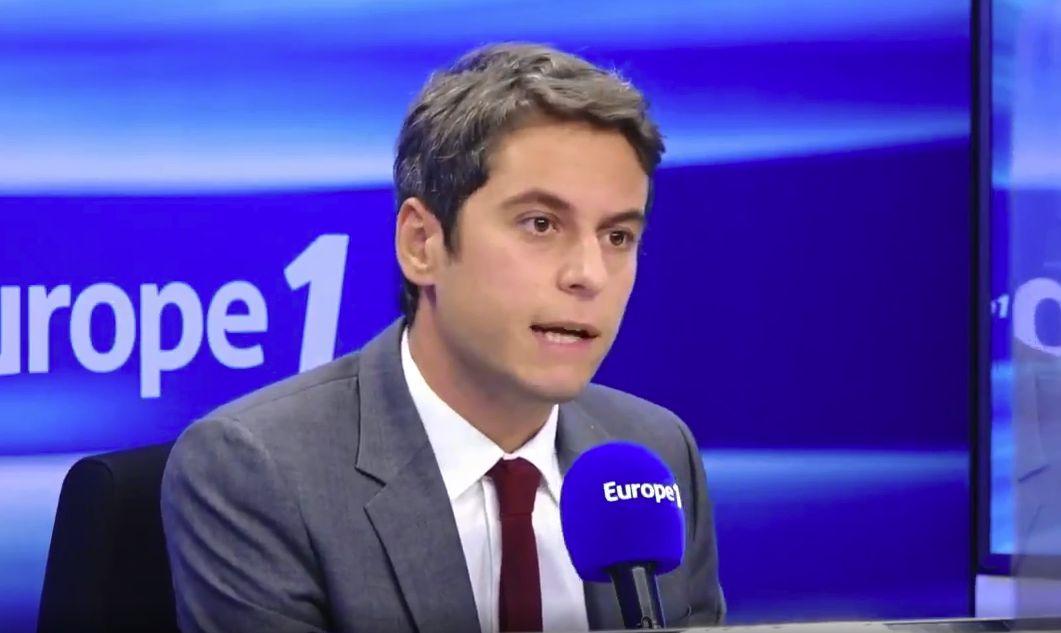 Au micro d'Europe 1, le porte-parole du gouvernement Gabriel Attal a annoncé que la France allait largement...