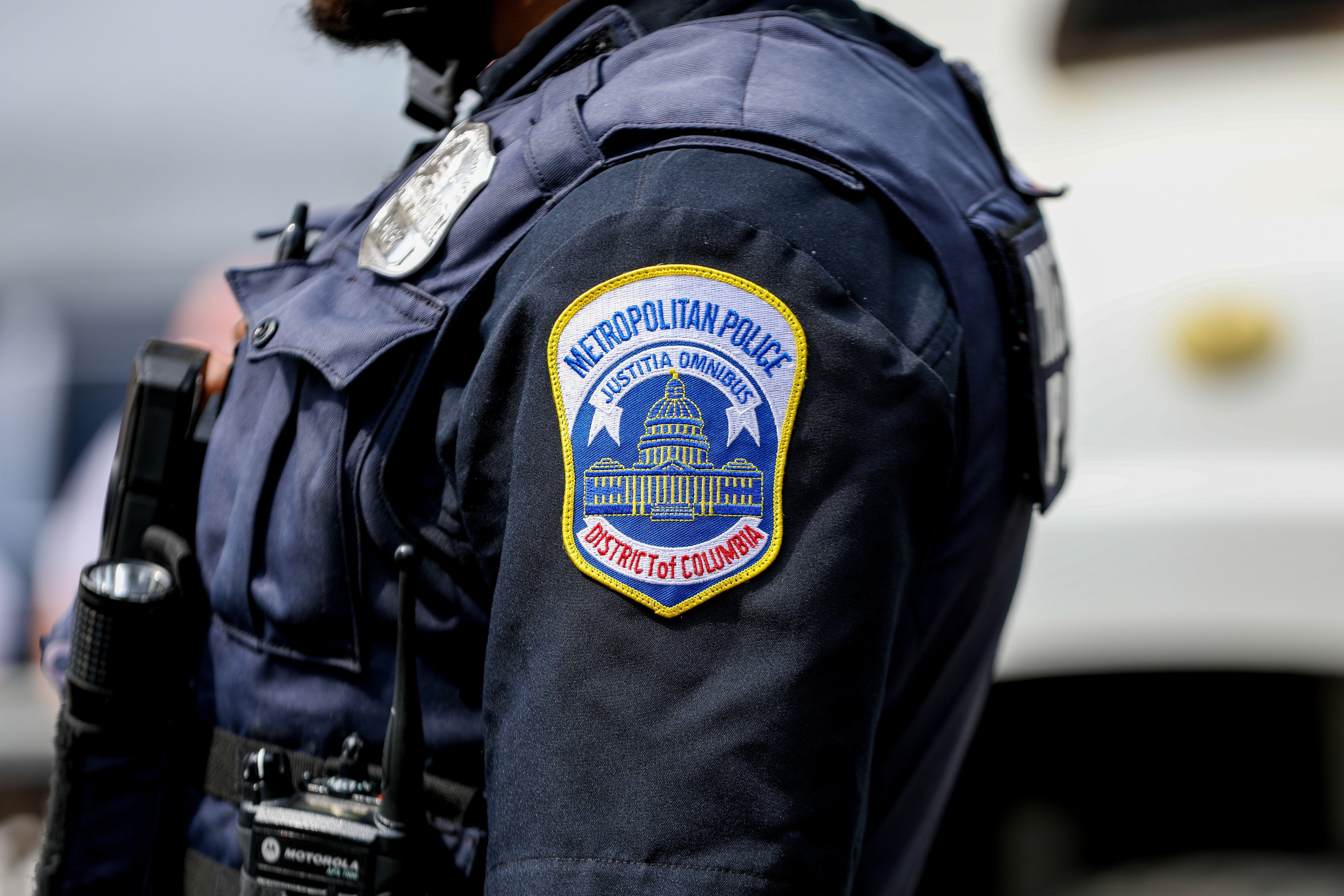 Un policier montant la garde à Washington, aux États-Unis, le 26 août